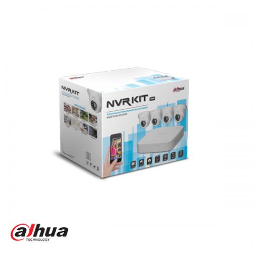Dahua KIT NVR2104-P-S2 + 4 x HDW1220S-0360-S2 incl 1 TB HDD
