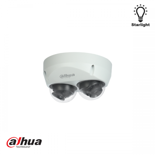 Dahua 2x2MP IR Mini Dome Panorama Network Camera 2.8mm
