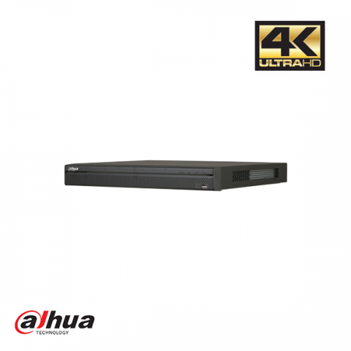 Dahua 8 kanaals 1U 8PoE 4K&H.265 Pro Network Video Recorder ePoE incl 2 TB HDD