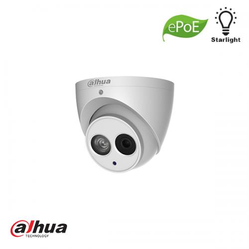 Dahua 2MP Starlight 1080P IR dome camera met mic. 2.8mm ePoE