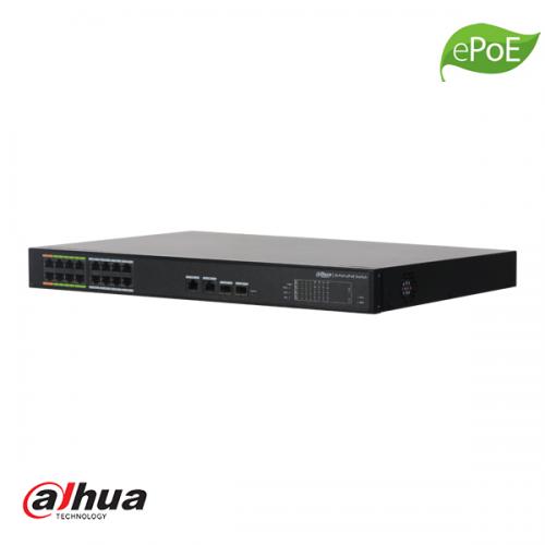 Dahua 16 kanaals L2 Managed ePoE Switch