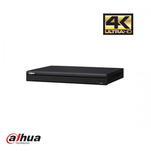 Dahua 16 kanaals 1U 4K H.265 16 x PoE NVR incl 2 TB HDD