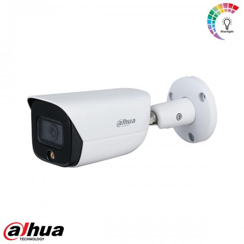 Dahua 4MP Lite AI Full-color Warm LED Warm Bullet Network Camera 3.6mm
