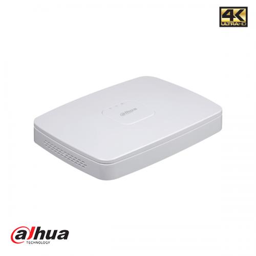 Dahu 8 kanaals Smart 1U 8PoE 4K&H.265 Lite Network Video Recorder incl 2TB HDD