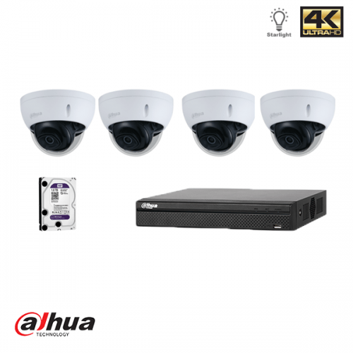 Dahua NVR kit: 4 kanaals NVR incl 1 TB HDD