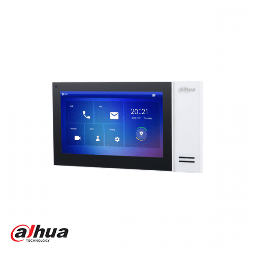 "Dahua 7"" TFT 1024x600 IP Intercom Monitor PoE Wit"